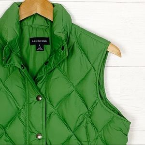 Lands' End Diamond Quilted Down Puffer Vest S